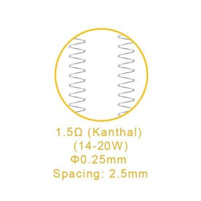 Lot de 5 résistance Nautilus X U Tech 1.5 ohm