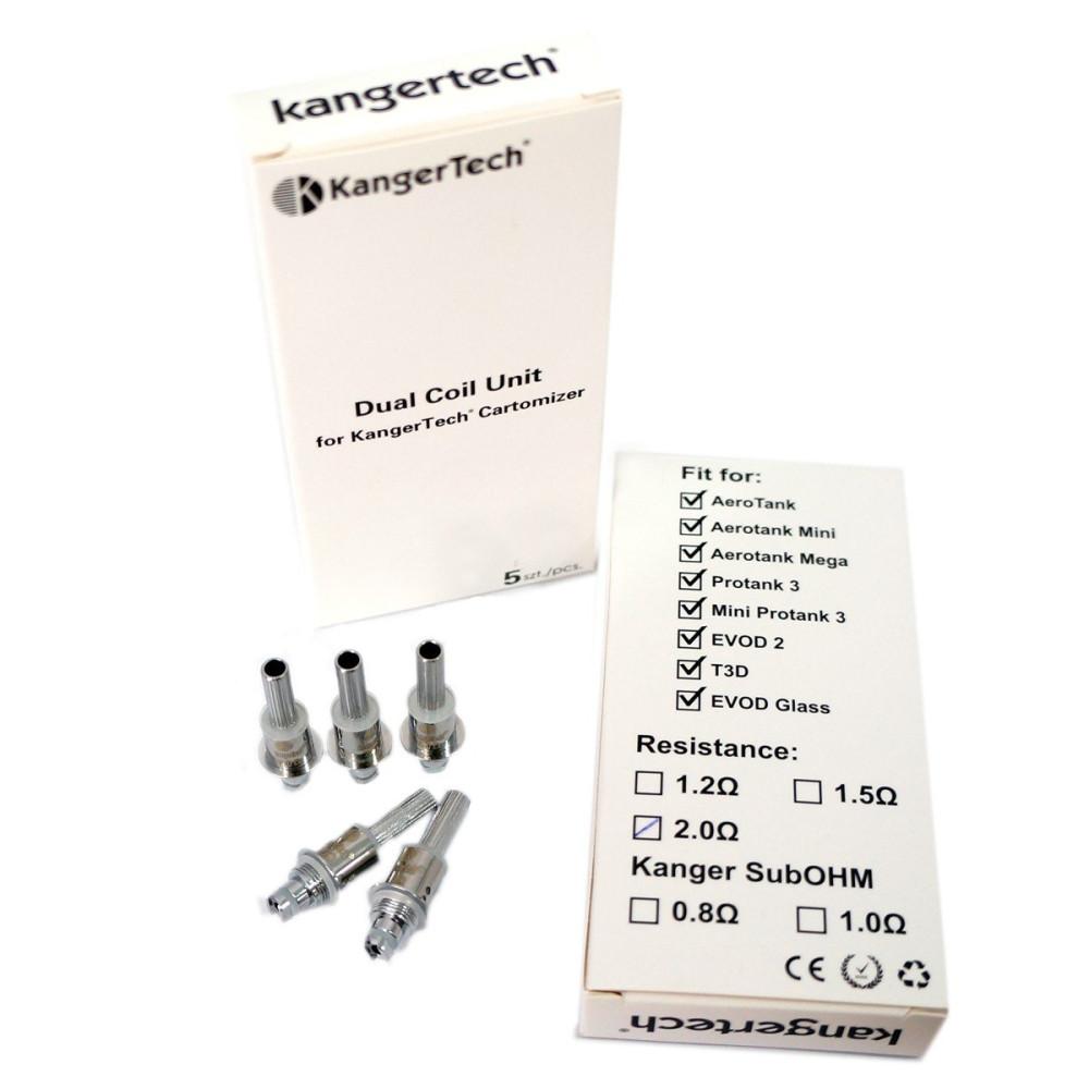 Lot de 5 résistances BDC Kanger Aerotank V2/Protank 3/ Mini protank 3