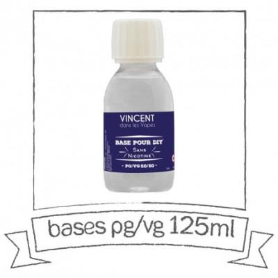 Base PG VG 125 ml VDLV Sans nicotine