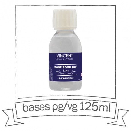 Base PG VG 125 ml VDLV Sans nicotine