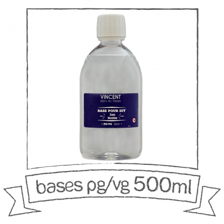 Base PG VG 500 ml VDLV Sans nicotine
