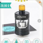 Clearomiseur Zenith upgrade innokin neuf (image de substitution)
